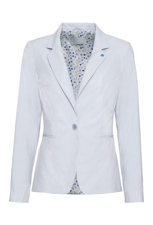 Bianca Pinstripe blazer in blue