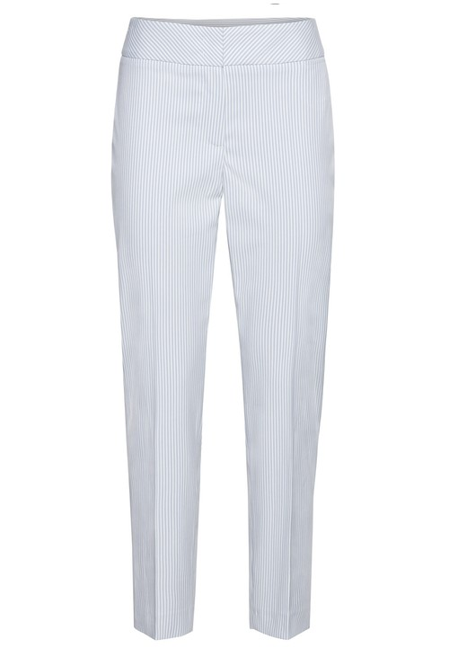 Bianca Pinstripe trousers in blue
