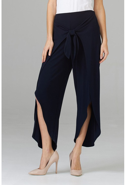 Joseph Ribkoff Black trousers with a wrap overlay