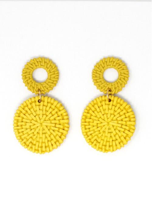 Pamela Scott Yellow Earrings