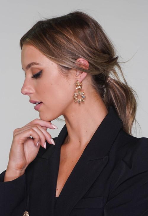 Pamela Scott diamante earrings in gold
