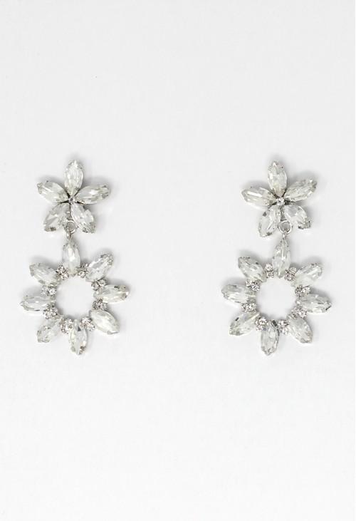 Pamela Scott diamante earrings in silver