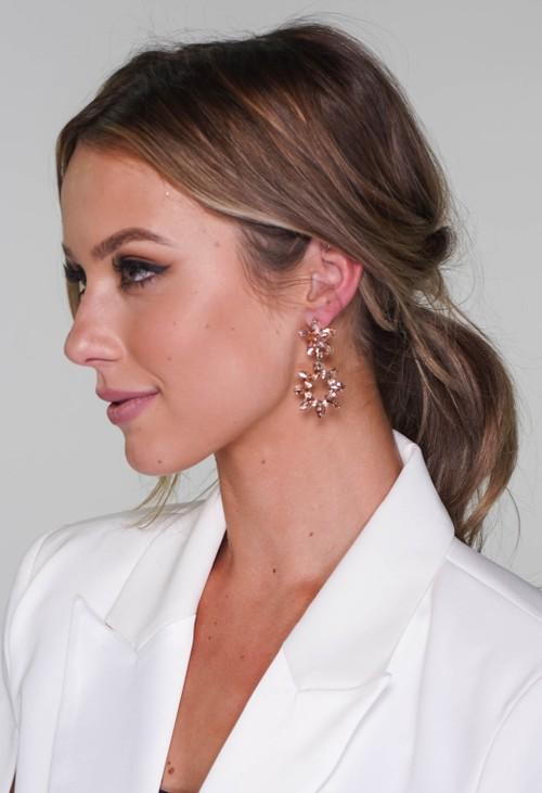 Pamela Scott diamante earrings in rose pink