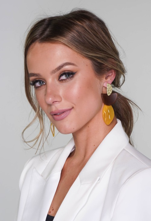 Pamela Scott earrings in gold and yellow