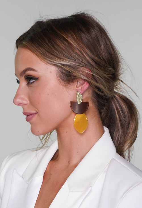 PS Accessories earrings in gold and yellow