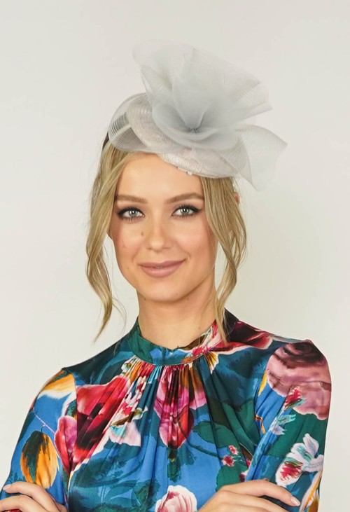 Maddox Grey Pillbox Fascinator