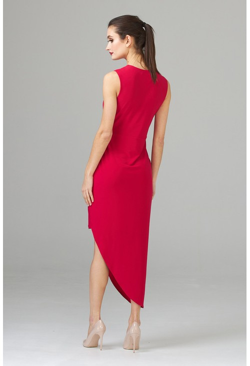 Joseph Ribkoff Asymmetrical dress in pink