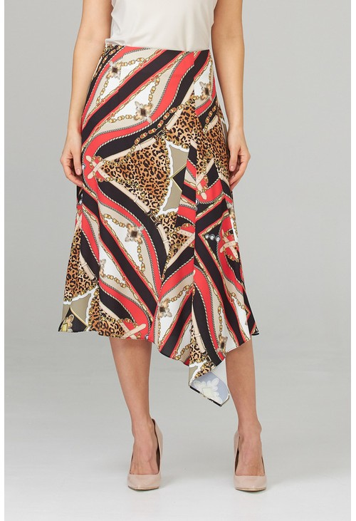 Joseph Ribkoff Printed handkerchief skirt in leopard print