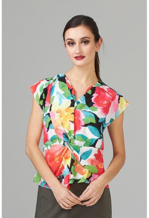 Joseph Ribkoff Bold floral printed blouse