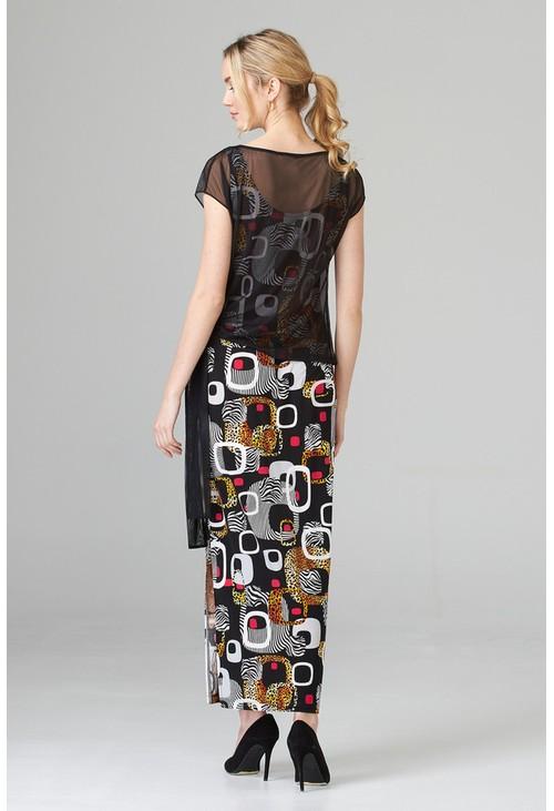 Joseph Ribkoff Art deco inspired dress in black