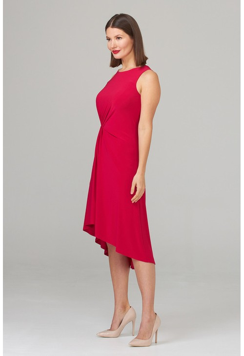 Joseph Ribkoff Pink dress with a ruched waistline
