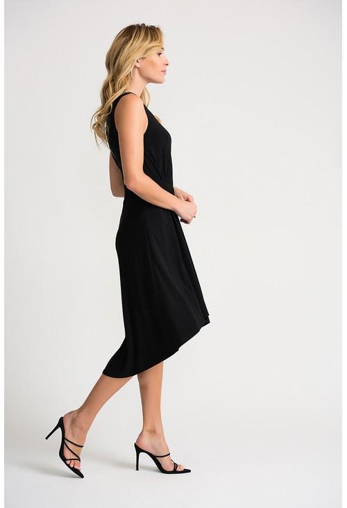 Joseph Ribkoff Black dress with a ruched waistline