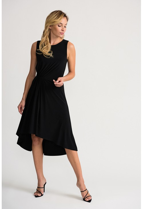 Joseph Ribkoff Black dress with a ruched waistline